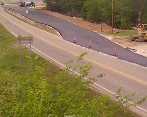 new road divided hwy