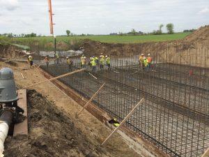 preparing for concrete bridge