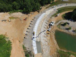 Spillway Aerial Drone Shot